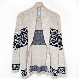 Urban Outfitters Ecote Patterned Shawl Cardigan